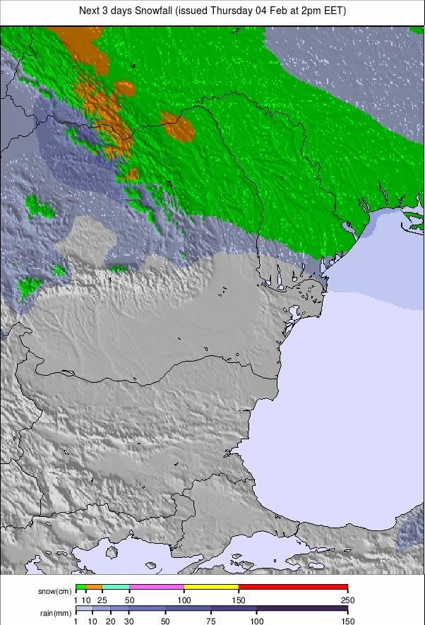Precipitatii Romania pentru 6 zile (#Romania precipitation forecast)