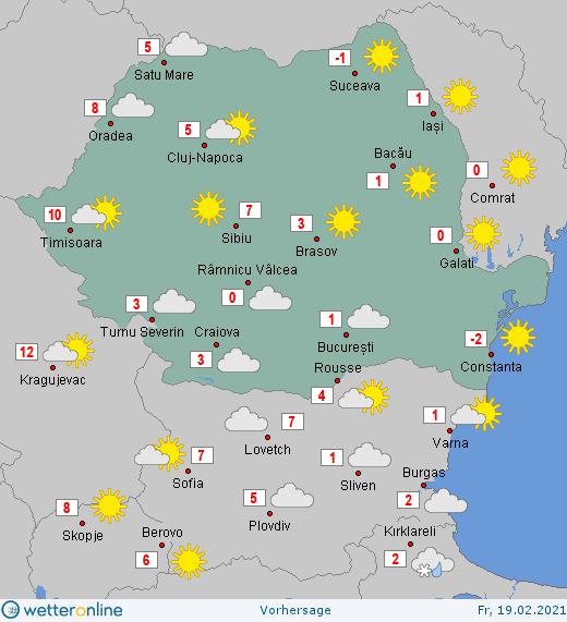 Prognoza meteo Romania 19 Februarie 2021 #Romania #vremea