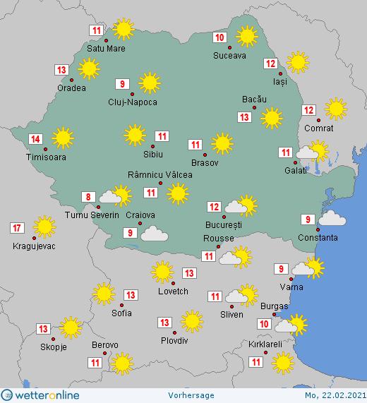 Prognoza meteo Romania 21 - 22 Februarie 2021 #Romania #vremea