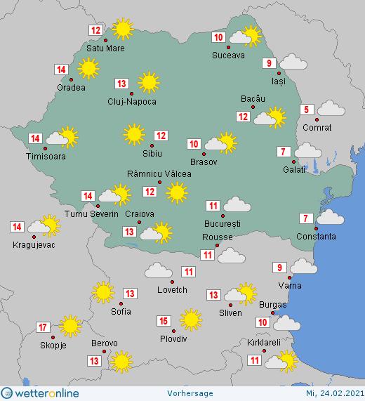 Prognoza meteo Romania 24 Februarie 2021 #Romania #vremea