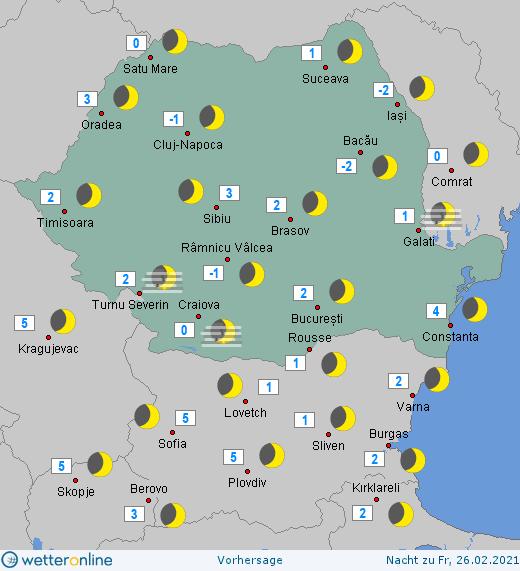 Prognoza meteo Romania 25 Februarie 2021 (Romania weather forecast)