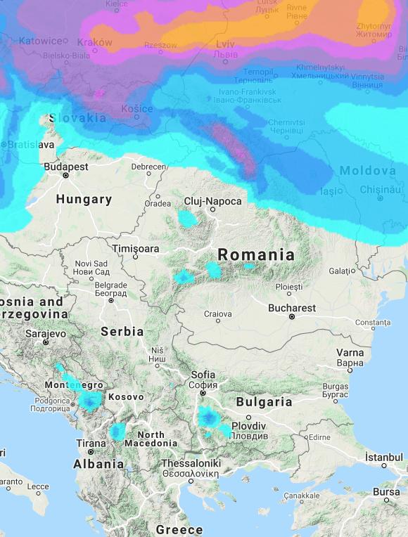 Alps snow forecast #snow #ski (Ninsori prognozate în Alpi)
