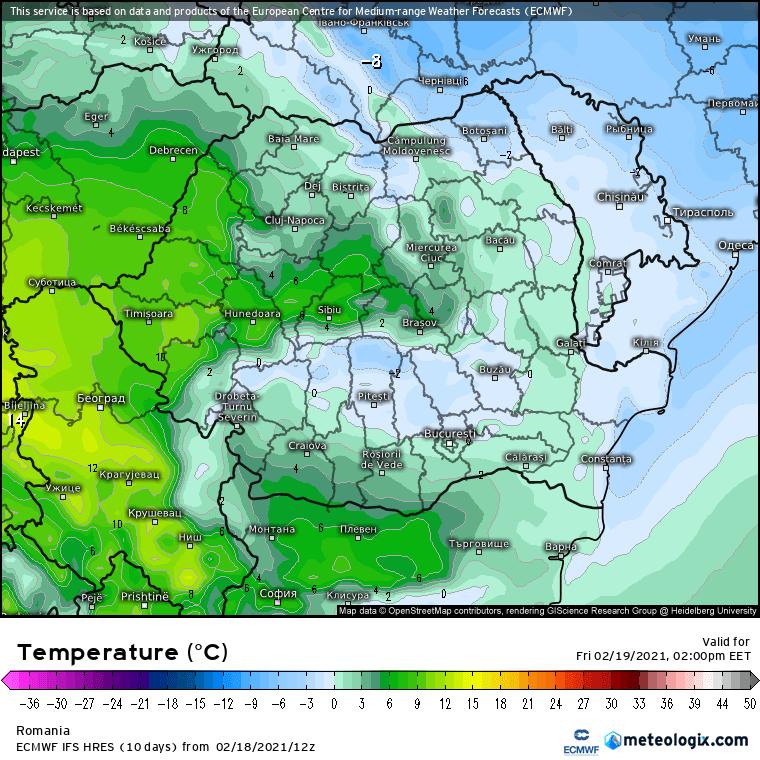 Prognoza meteo Romania 19 Februarie 2021 (Romania weather forecast)