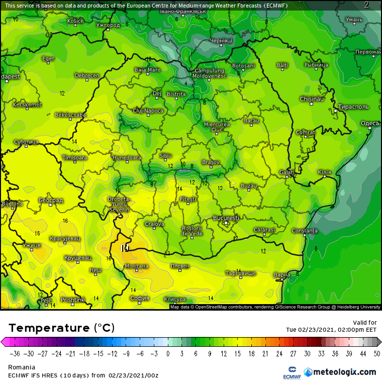 Prognoza meteo Romania 23 Februarie 2021 (Romania weather forecast)