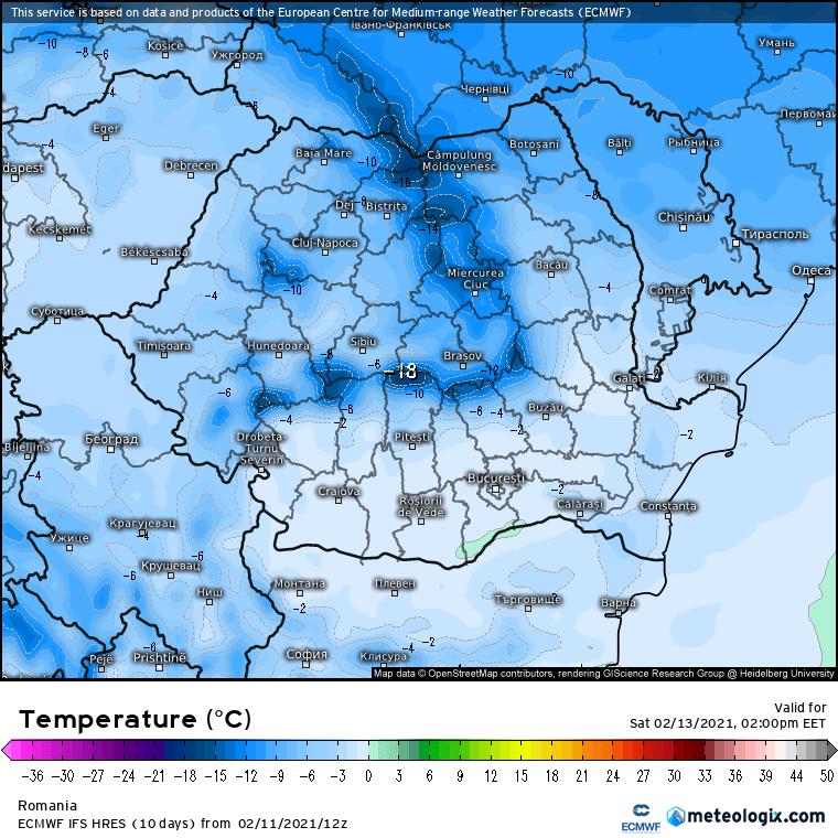 Prognoza meteo Romania 12 Februarie 2021 (Romania weather forecast)