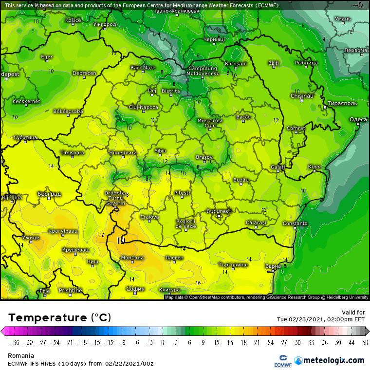 Prognoza meteo Romania 22 Februarie 2021 (Romania weather forecast)