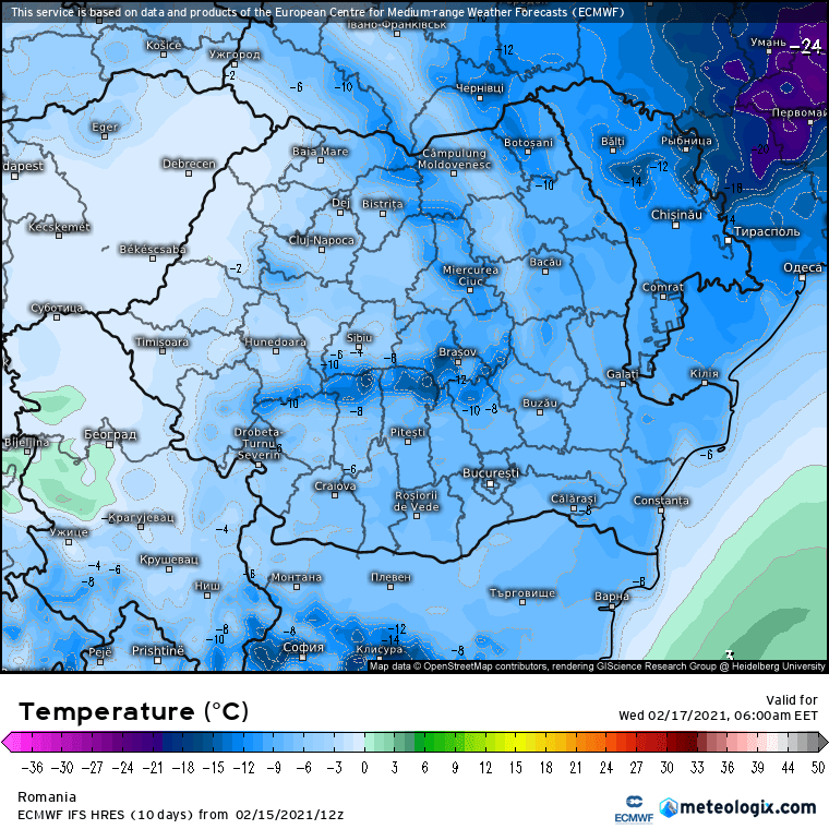 Prognoza meteo Romania 16 Februarie 2021 (Romania weather forecast)