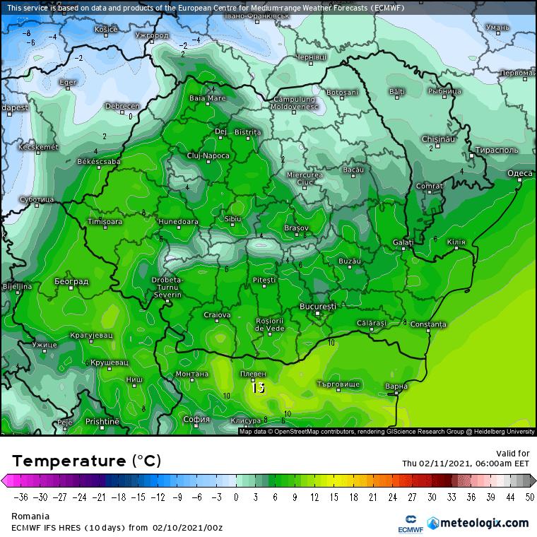 Prognoza meteo Romania 10 Februarie 2021 (Romania weather forecast)