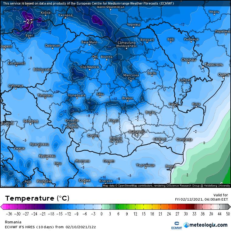 Prognoza meteo Romania 11 Februarie 2021 (Romania weather forecast)