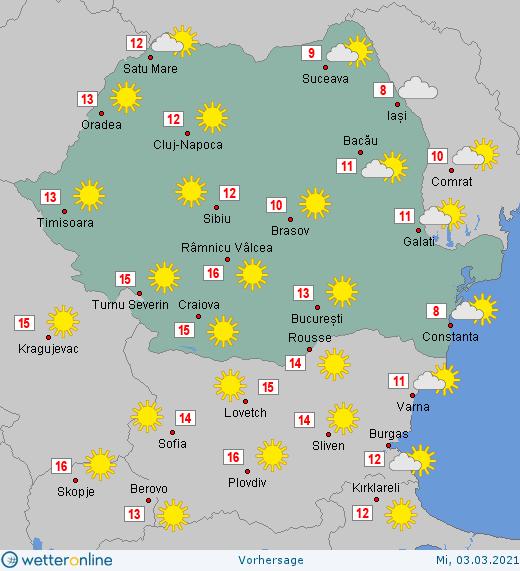 Prognoza meteo Romania 3 Martie 2021 #Romania #vremea