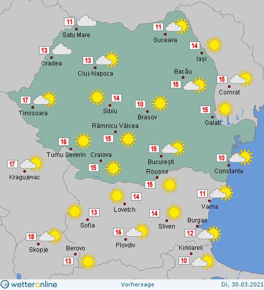 Prognoza meteo Romania 30 Martie 2021 #Romania #vremea