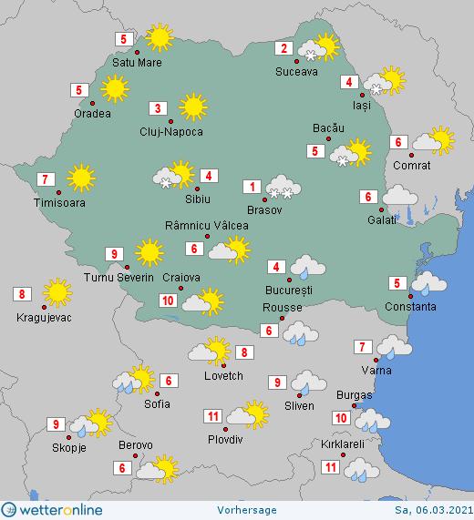 Prognoza meteo Romania 6 Martie 2021 #Romania #vremea