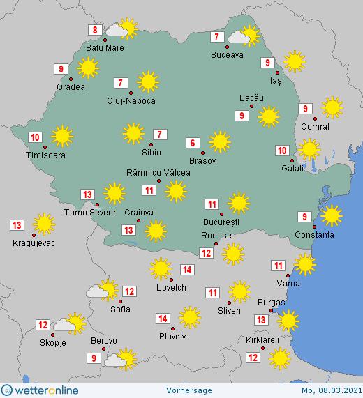 Prognoza meteo Romania 6  - 7 Martie 2021 #Romania #vremea
