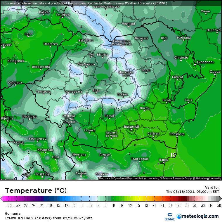 Prognoza meteo Romania 18 Martie 2021 (Romania weather forecast)