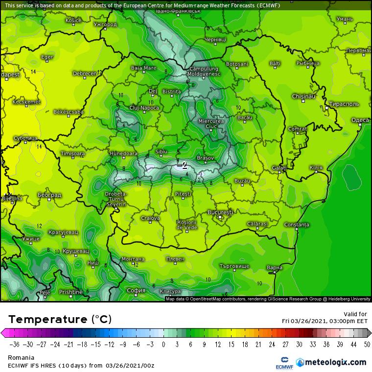 Prognoza meteo Romania 26 Martie 2021 (Romania weather forecast)