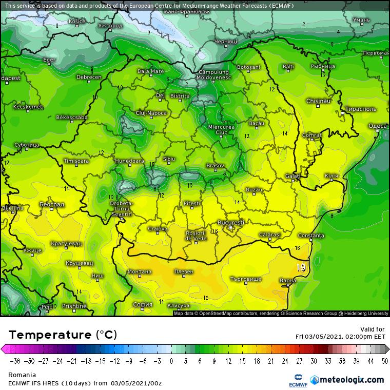 Prognoza meteo Romania 5 Martie 2021 (Romania weather forecast)