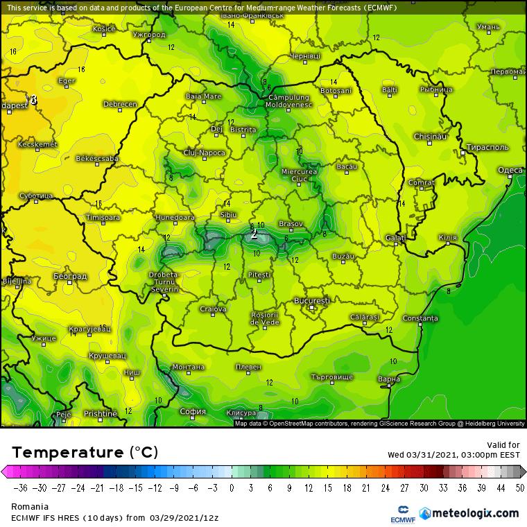 Prognoza meteo Romania 30 Martie 2021 (Romania weather forecast)