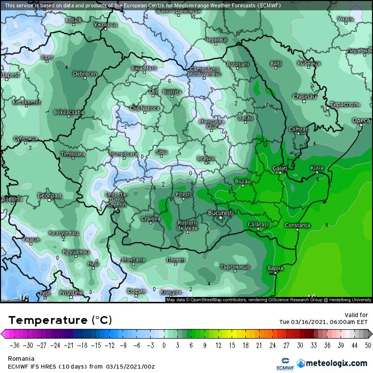 Prognoza meteo Romania 15 Martie 2021 (Romania weather forecast)