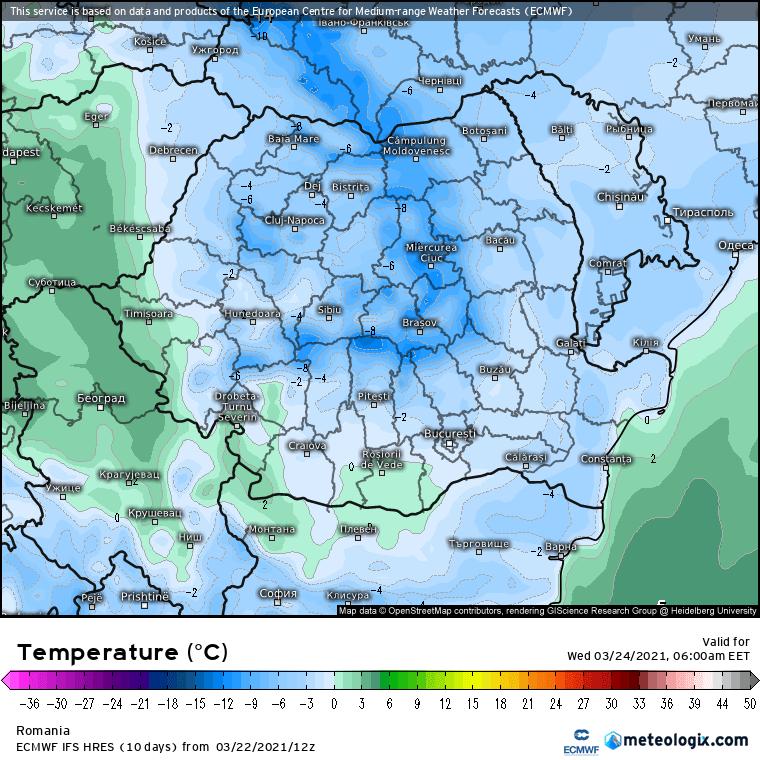 Prognoza meteo Romania 23 Martie 2021 (Romania weather forecast)