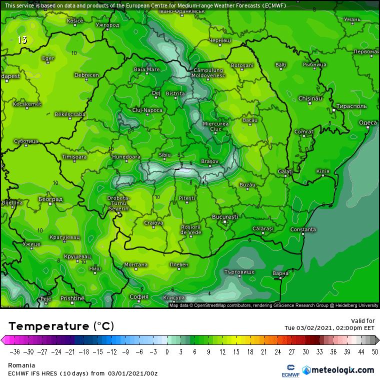 Prognoza meteo Romania 1 Martie 2021 (Romania weather forecast)