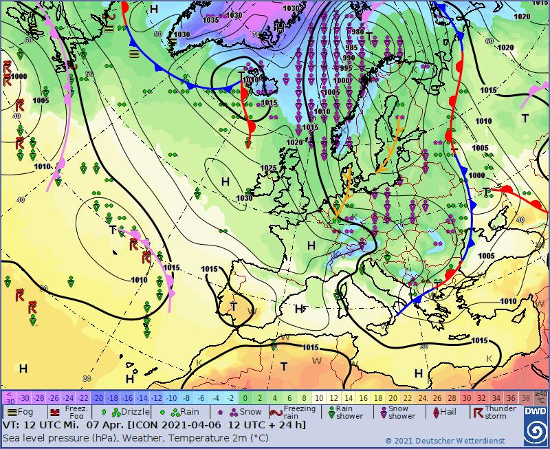 Europe weather forecast #weatherforecast (Vremea în Europa). Rain radar