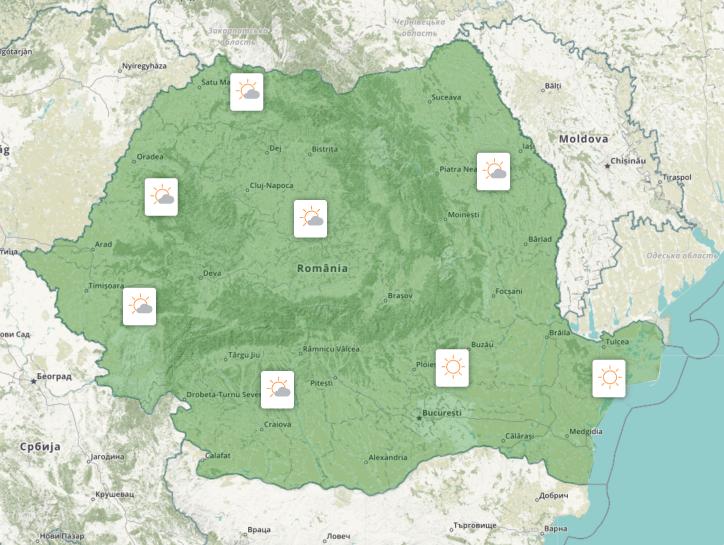 Prognoza meteo România  10 - 11 Aprilie (Romania  forecast).