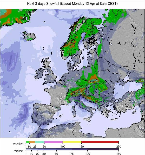 Precipitation maps Europe #rainfall (Precipitații în Europa)