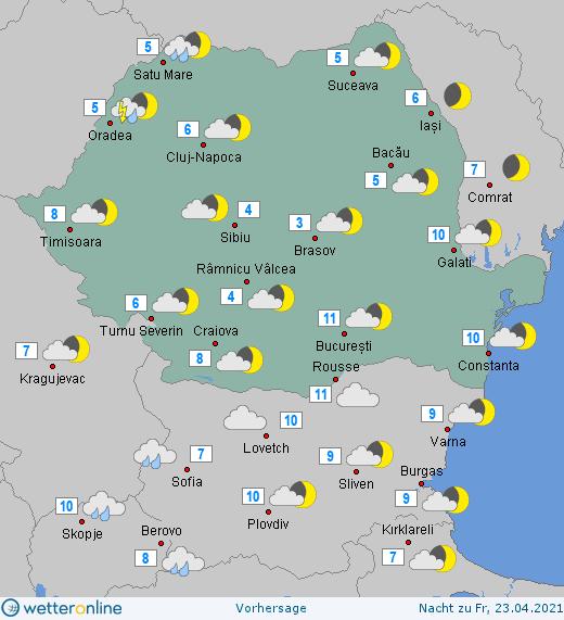 Prognoza meteo Romania 22 Aprilie 2021 (Romania weather forecast)