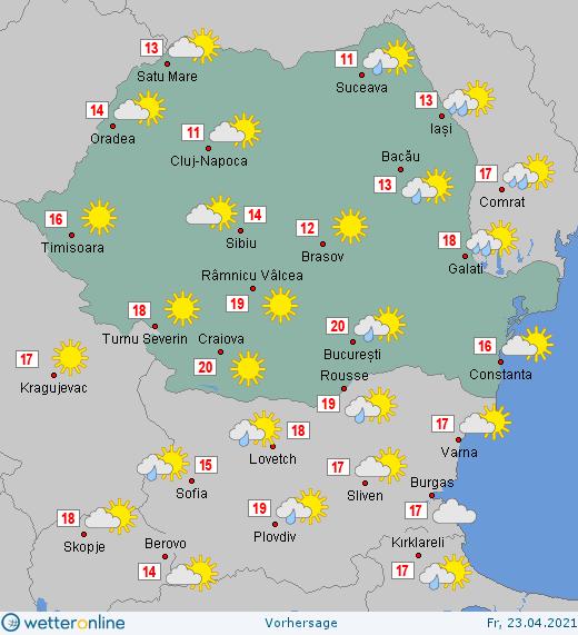 Prognoza meteo Romania 23 Aprilie 2021 #Romania #vremea