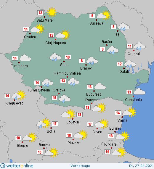 Prognoza meteo Romania 27 Aprilie 2021 #Romania #vremea