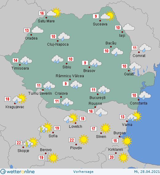 Prognoza meteo Romania 28 Aprilie 2021 #Romania #vremea