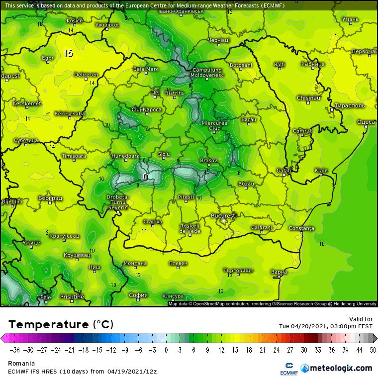 Prognoza meteo Romania 20 Aprilie 2021 (Romania weather forecast)