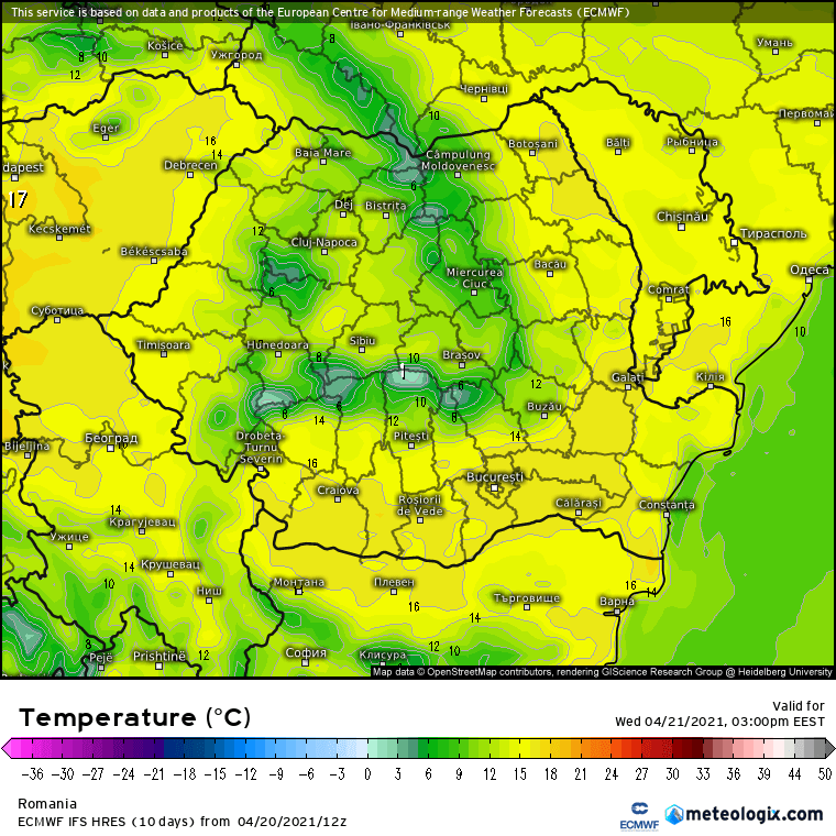 Prognoza meteo Romania 21 Aprilie 2021 (Romania weather forecast)