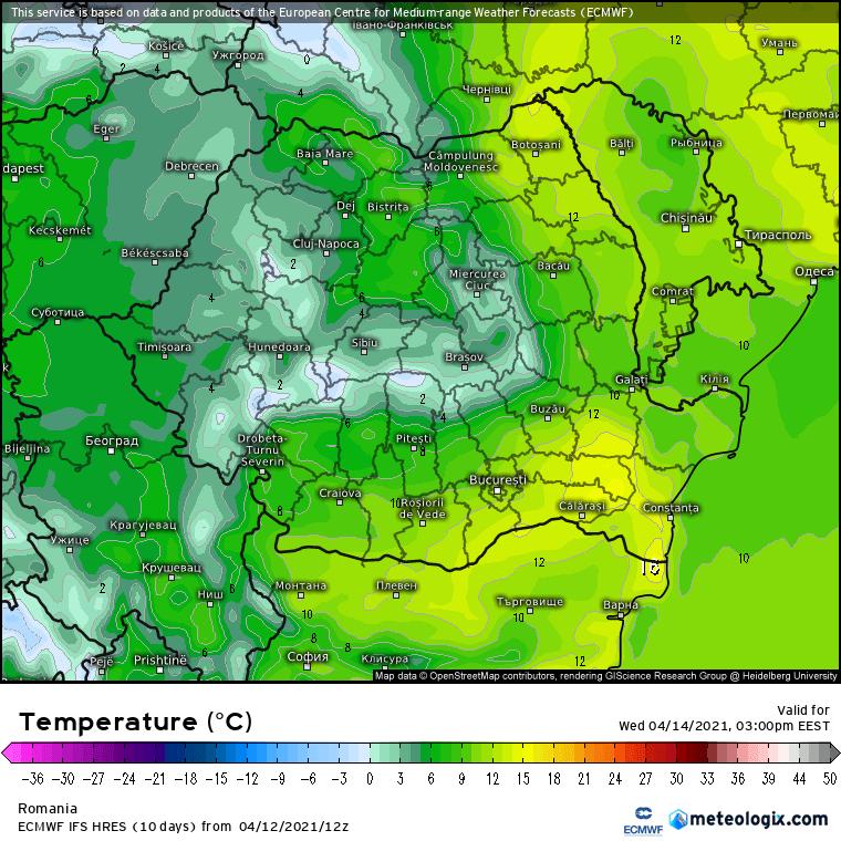Prognoza meteo Romania 13 Aprilie 2021 (Romania weather forecast)
