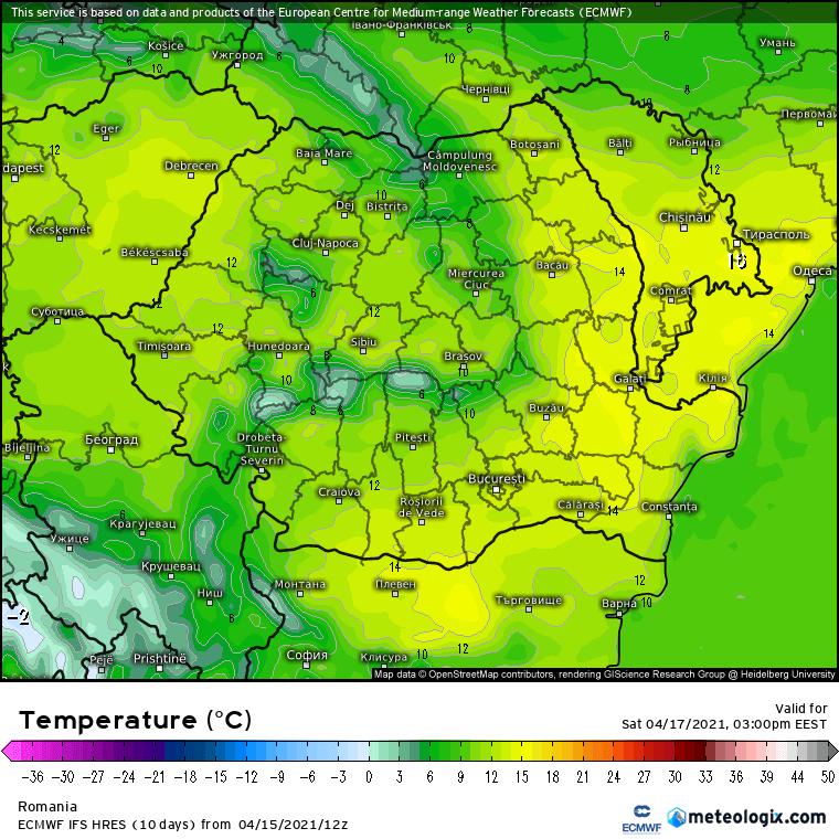 Prognoza meteo Romania 16 Aprilie 2021 (Romania weather forecast)