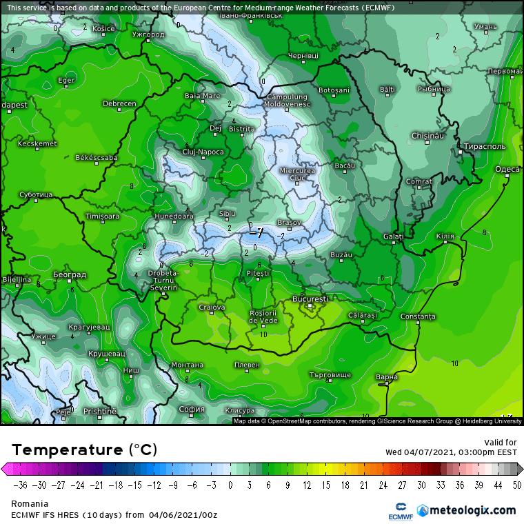 Prognoza meteo Romania 6 Aprilie 2021 (Romania weather forecast)