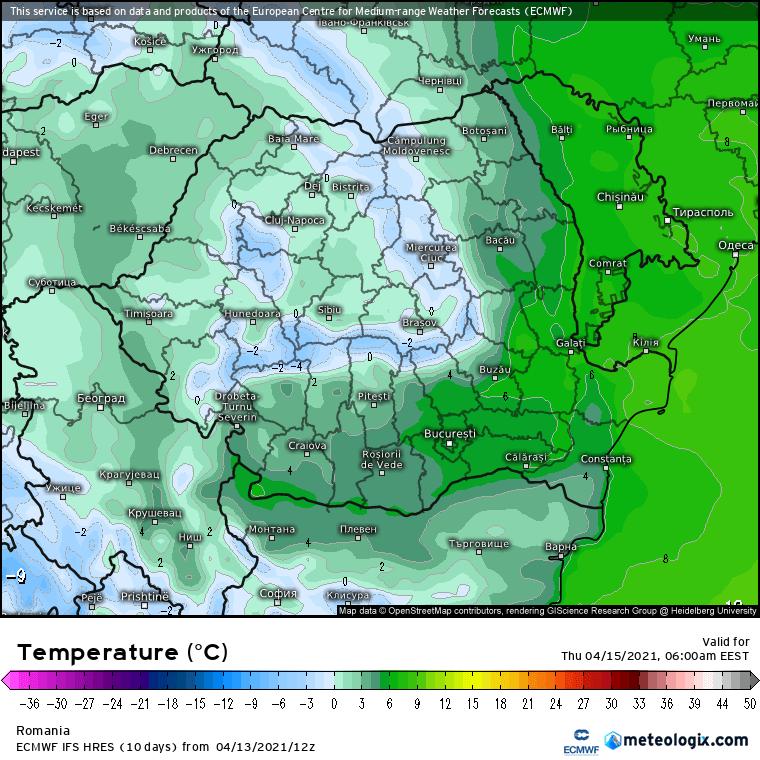 Prognoza meteo Romania 14 Aprilie 2021 (Romania weather forecast)