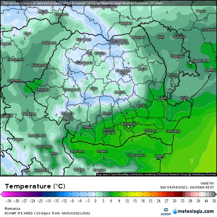 Prognoza meteo România  3 - 4 Aprilie (Romania  forecast).