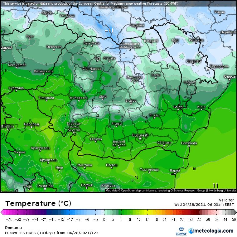 Prognoza meteo Romania 27 Aprilie 2021 (Romania weather forecast)