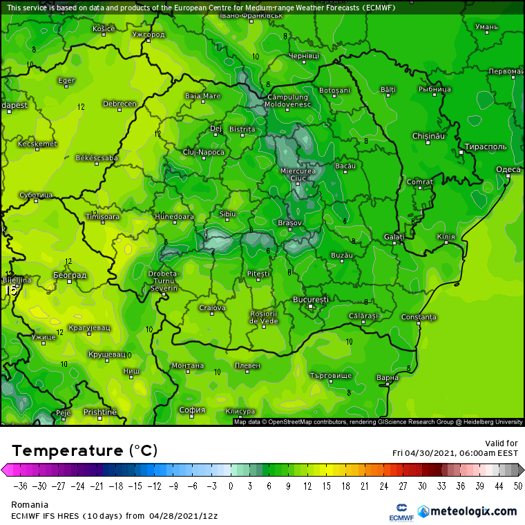 Prognoza meteo Romania 29 Aprilie 2021 (Romania weather forecast)