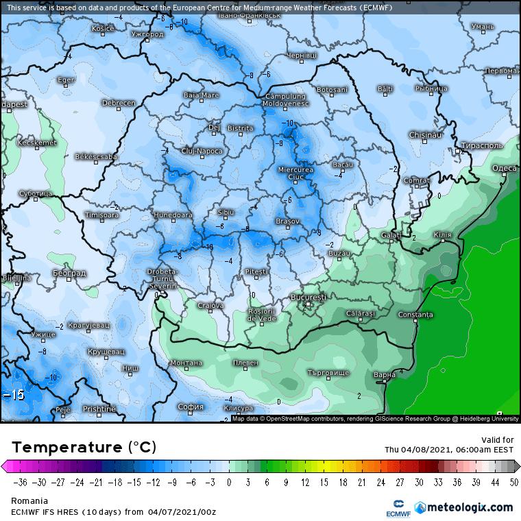 Prognoza meteo Romania 7 Aprilie 2021 (Romania weather forecast)
