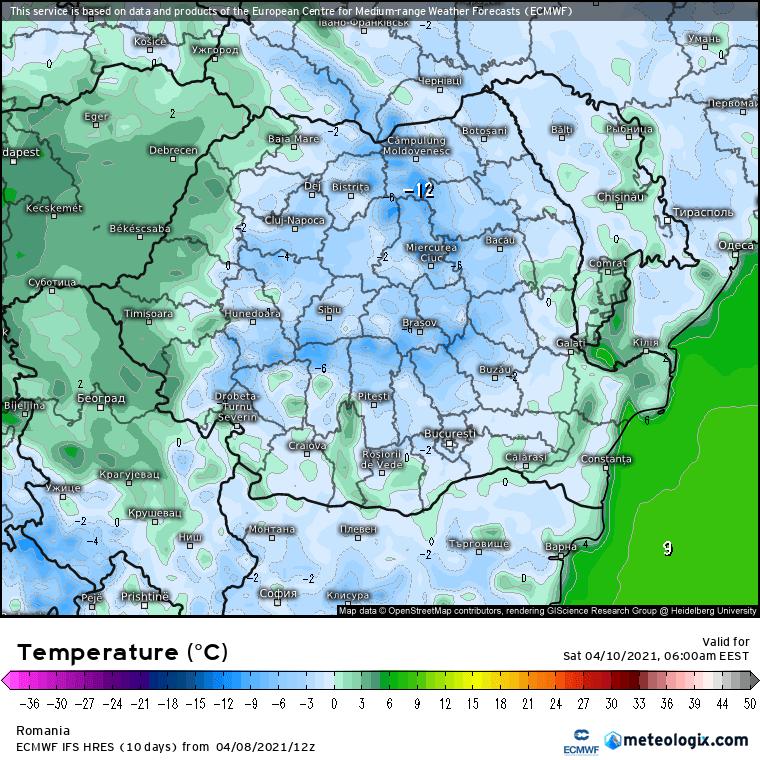 Prognoza meteo Romania 9 Aprilie 2021 (Romania weather forecast)