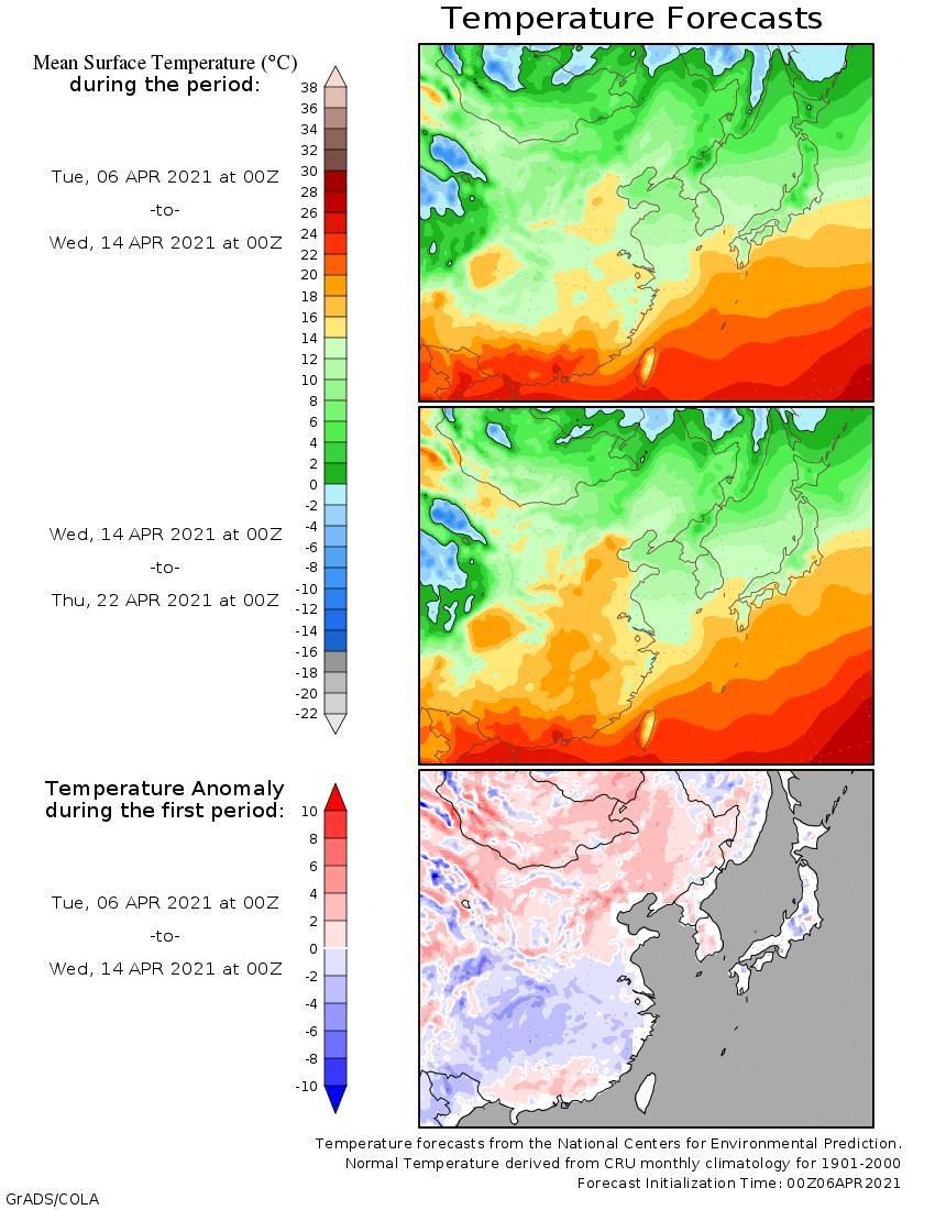 Weather forecast 2 weeks Asia and Australia (Temperaturi și precipițații Asia și Australia)