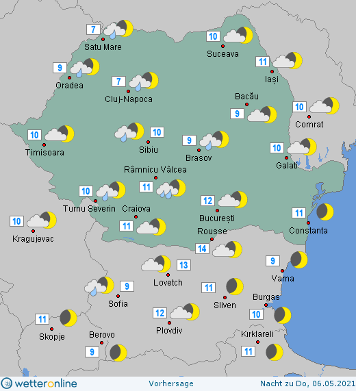 Prognoza meteo Romania 5 Mai 2021 (Romania weather forecast)