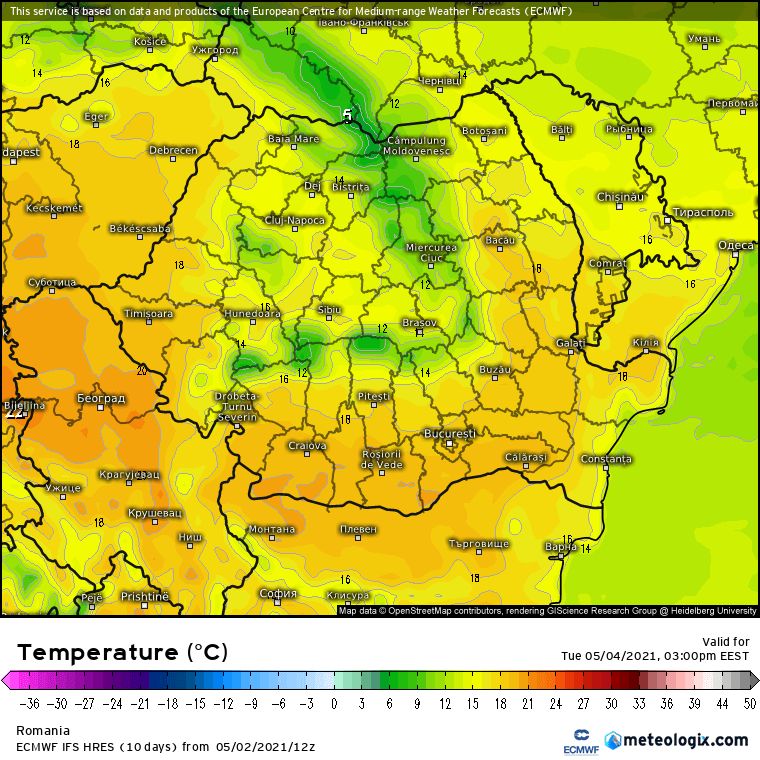 Prognoza meteo Romania 3 AMai 2021 (Romania weather forecast)