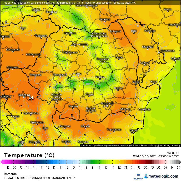 Prognoza meteo Romania 4 Mai 2021 (Romania weather forecast)