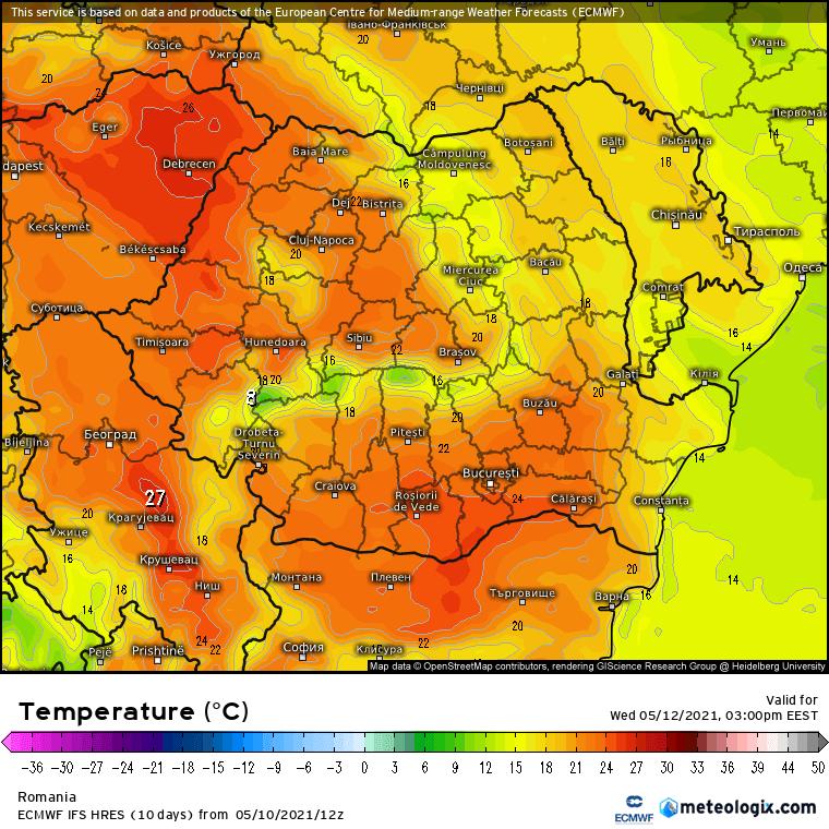 Prognoza meteo Romania 11 Mai 2021 (Romania weather forecast)