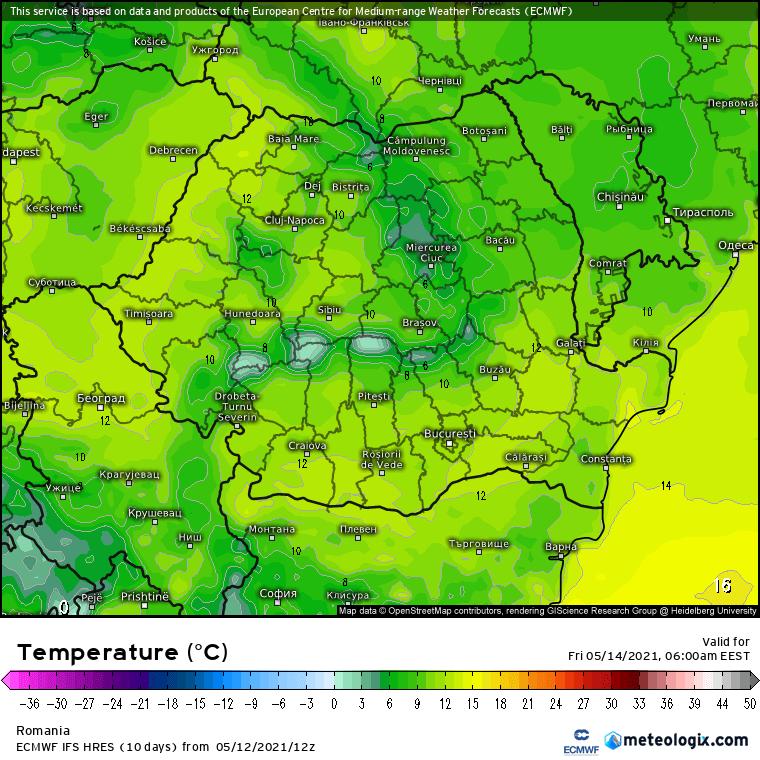 Prognoza meteo Romania 13 Mai 2021 (Romania weather forecast)