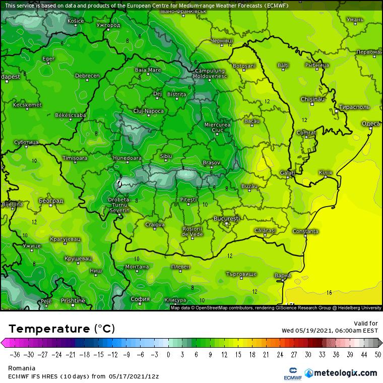 Prognoza meteo Romania 18 Mai 2021 (Romania weather forecast)