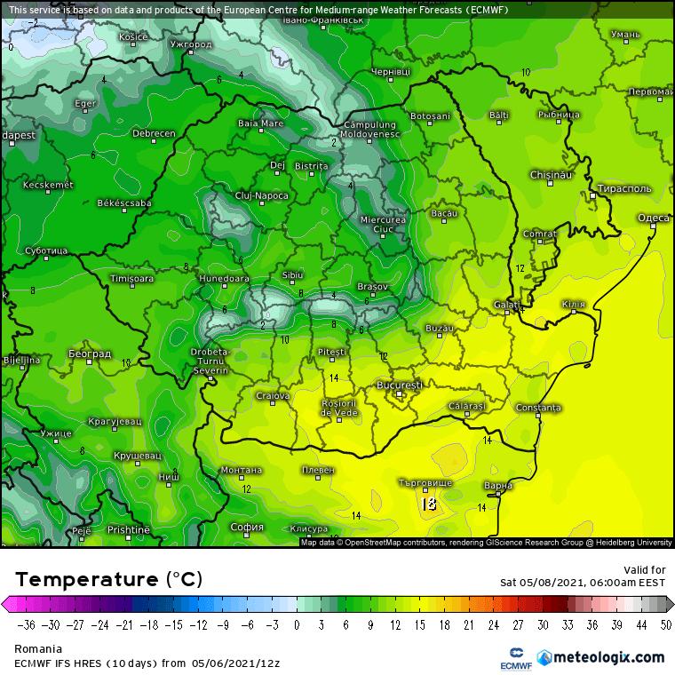 Prognoza meteo Romania 7 Mai 2021 (Romania weather forecast)